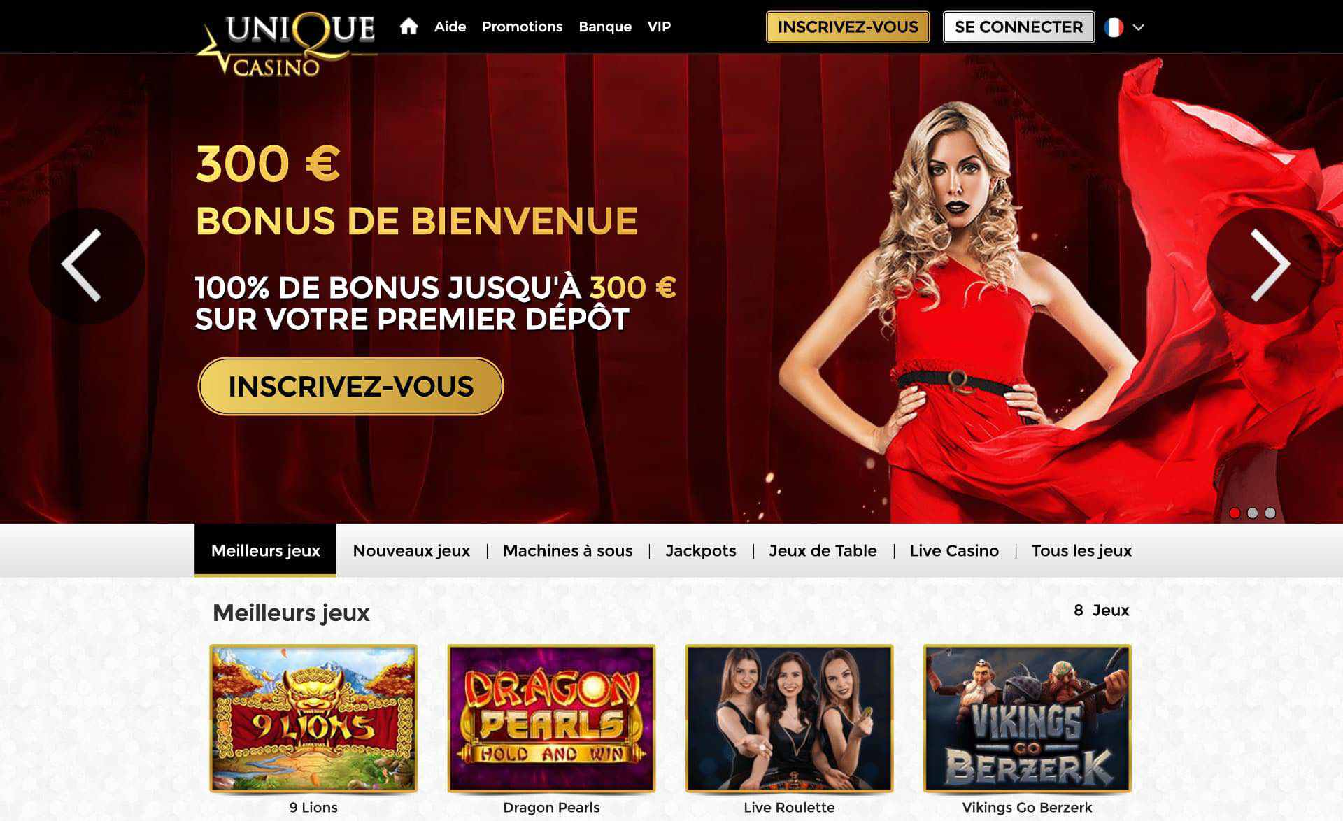 le site officiel unique casino